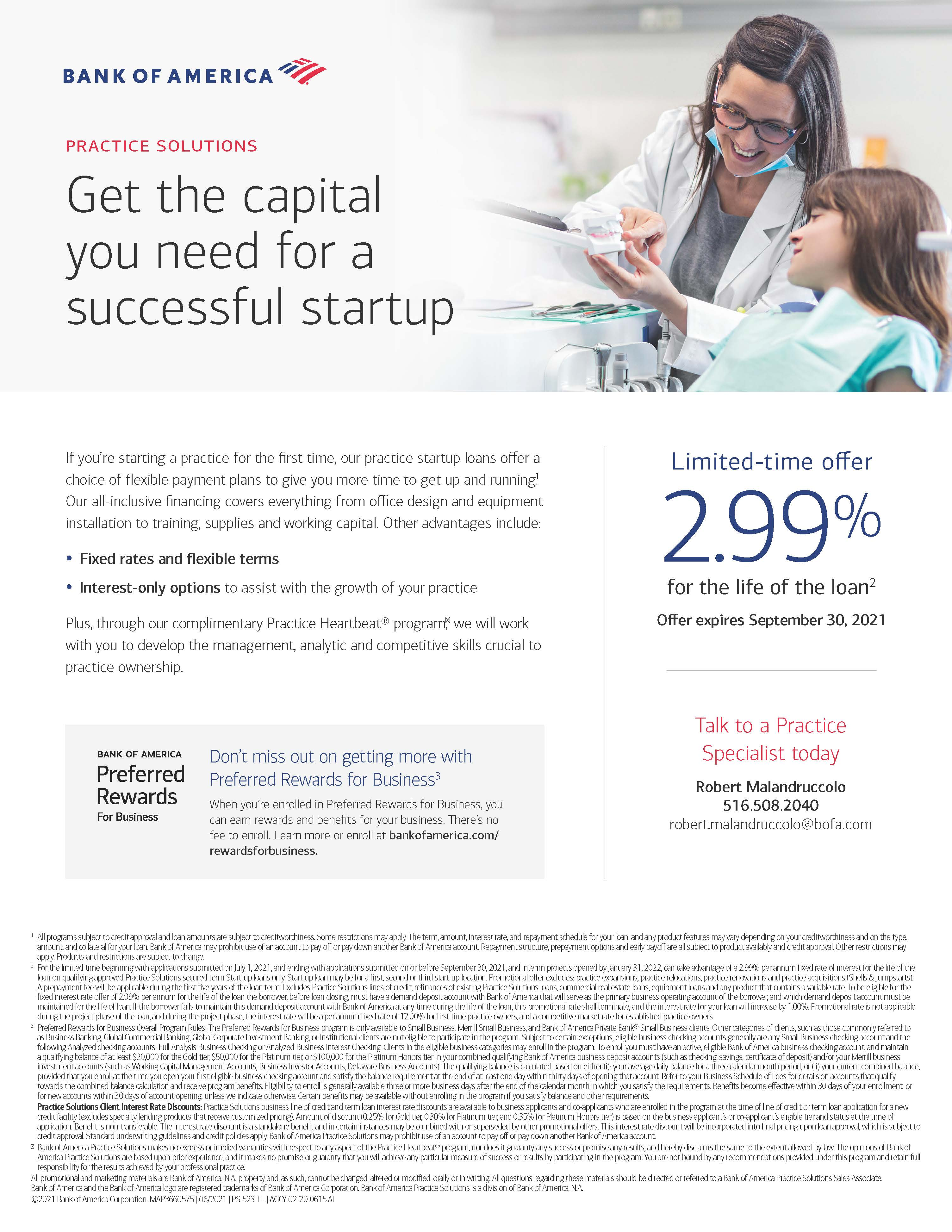 Dental Promo- Deadline to Apply Sept 30  Fixed Rate at 2.99% (1) ad